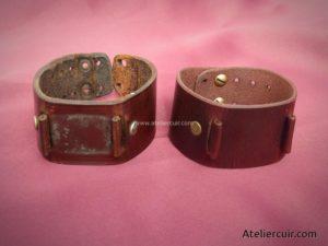 reproduction d'un bracelet montre en cuir par tithouan ateliercuir