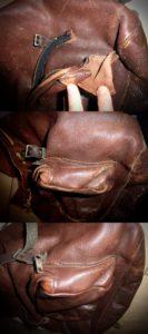 Réparation d'une pochette de sac à dos en cuir