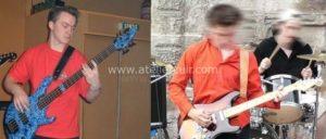 sangle guitare basse musicien travail du cuir, maroquinerie artisanale