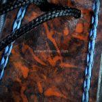 bourse cuir tannage végétal point sellier brodé medieval moyen age tithouan ateliercuir.com