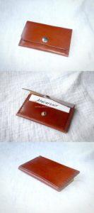 porte carte en cuir tannage végétal format CB