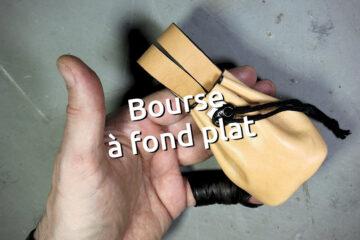 Bourse en cuir à fond plat, idéal pour des dés ou petits accessoires - tithouan pour ateliercuir.com