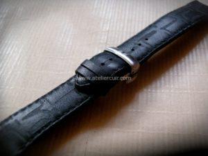 bracelet montre cuir strap pour montre tissot sans sels de chrome, tannage végétal