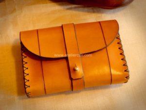 sacoche de ceinture en cuir