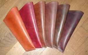 carquois contrebasse travail du cuir, maroquinerie artisanale