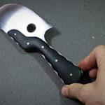 Cornette à couper le cuir fabriquée sur mesure par Yorick Stoupy pour Tithouan ateliercuir.com