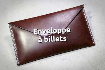 étui enveloppe pour billets de banque 500€ en cuir cousu main - tithouan pour ateliercuir.com