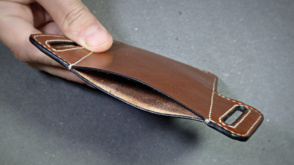 Etui ceinture cuir iphone 6 - tithouan pour ateliercuir, cousu main au point sellier, cuir tannage végétal