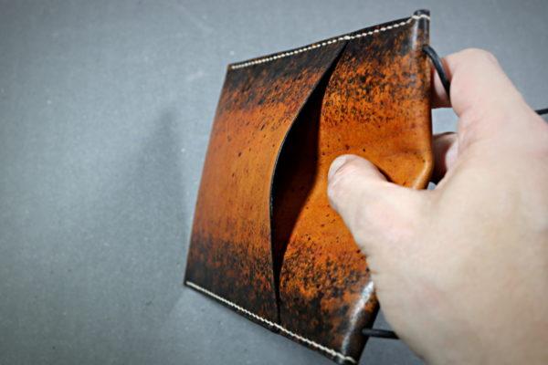 Pochette de soirée en cuir esprit vintage - tithouan pour Ateliercuir.com
