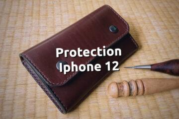 Étui ceinture cuir protection iphone 12 - tithouan pour ateliercuir.com