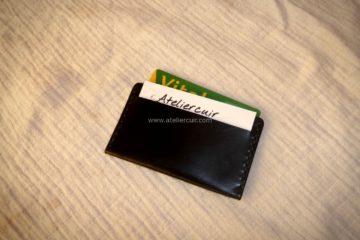 porte carte plat en cuir modèle horizontal
