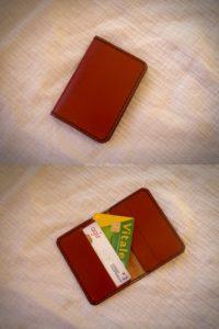 Porte carte en cuir