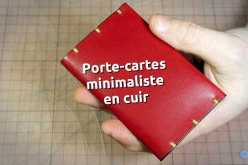 Porte-cartes minimaliste en cuir - MBT Glitter Nagai Yoriito (japon) - tithouan pour ateliercuir.com