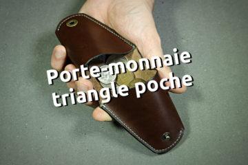 Porte-monnaie 2 poches en cuir cousu main au point sellier - Tithouan pour ateliercuir.com - maroquinerie travail du cuir