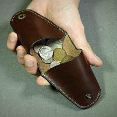 Patron porte monnaie en cuir triangle 2 poches - modèle maroquinerie libre et gratuit - tithouan pour point-sellier.com
