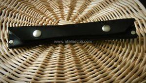 maroquinerie artisanale, mini trousse en cuir sans coutures pour 2 stylos